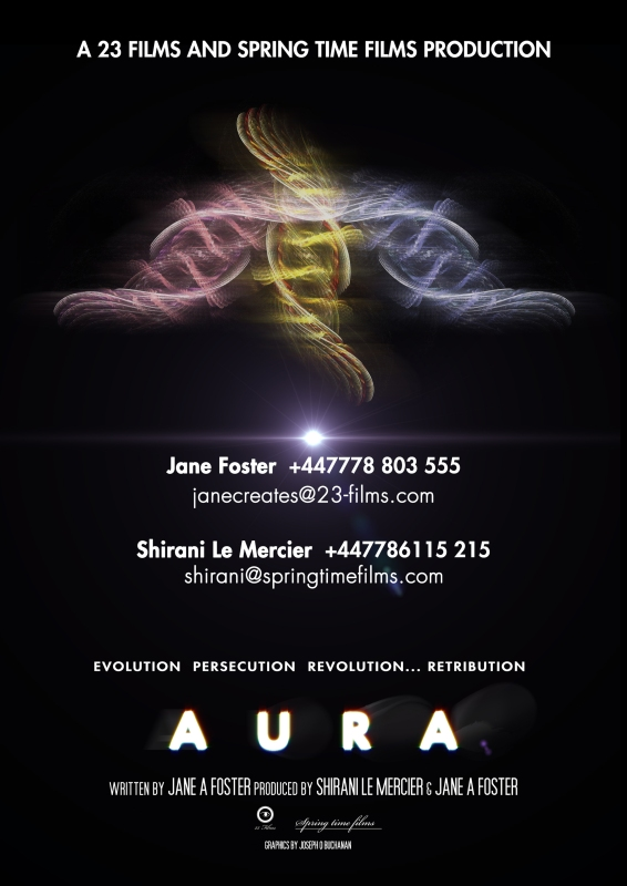 Aura poster flyer Cannes A4